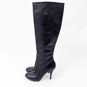 Via Spiga Tall Leather High Heeled Boots 8.5 Black